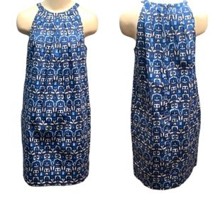 Joe Fresh Sleeveless blue Cotton Summer dress